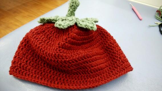 帽子の編み物