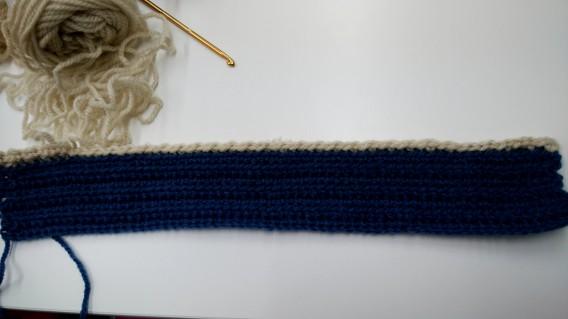編み物のバッグ作り